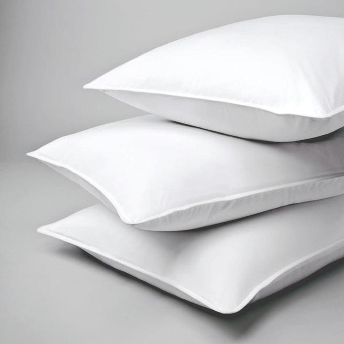 Famous hotel bedroom queen size Chamberloft pillow by Standard Textile. Set of 10 pillows