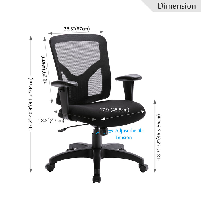 Big Ergonomic office chair mesh computer chair