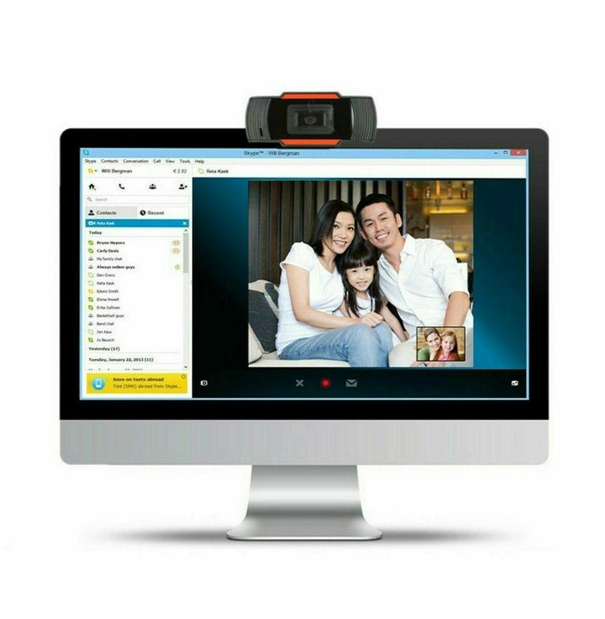Free local delivery Upgrade Webcam USB Computer Web Camera for PC Laptop Desktop Video USA