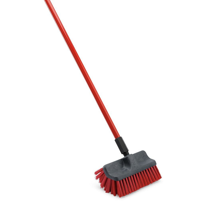 Dual surface scrub brush. Hotel cleaning supplies