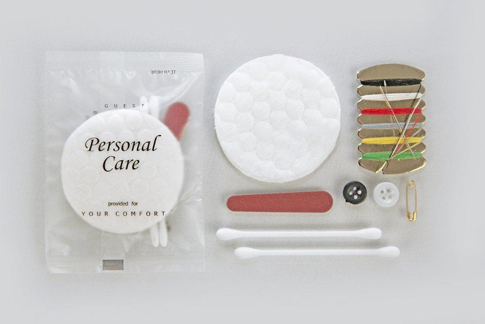 Hotel guest mending kit, plastic for hotels, condominium, AirBnB VRBO, Travel Size Hotel Toiletries. 500 items pack, 0.46 USD per item