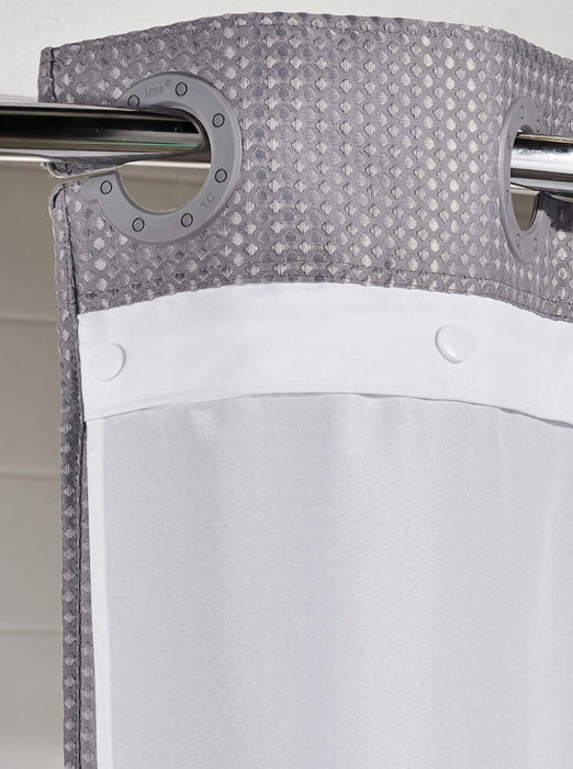 70 x 72 - Hookless replacement liner. Fits 71x77 Hookless shower curtain. White polyester fabric. Sold by Dozen