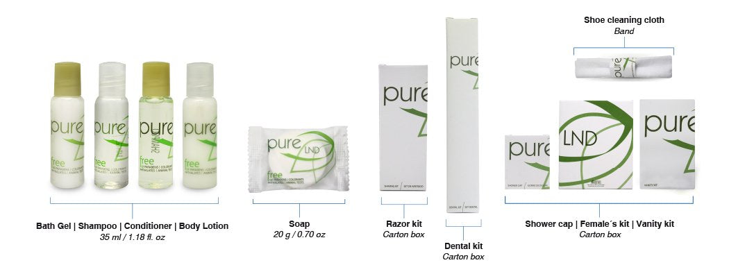 Hotel body lotion. Pure collection, 1.18 oz/35ml. bottle 240 items pack