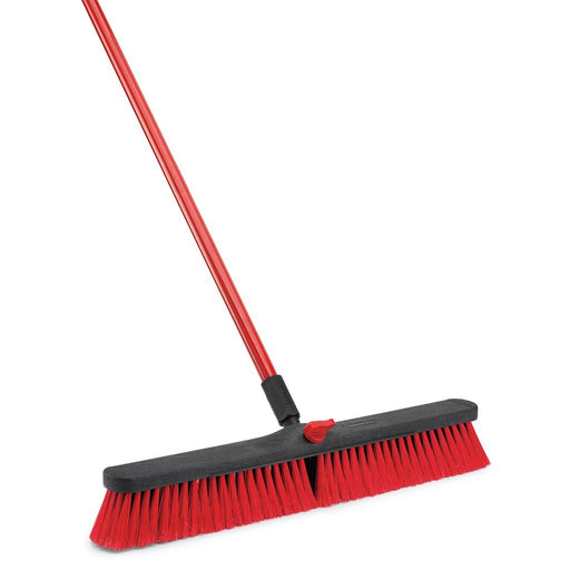 Hotel cleaning supplies. Push broom