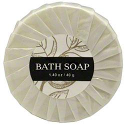 Hotel body soap, Leaves collection. 1.40 oz. /40 gr. round bars. 300 items pack