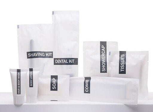 Hotel vanity kit, 3 cotton buds, 3 cotton disc, carton. 500 items pack, 0.166 USD per item