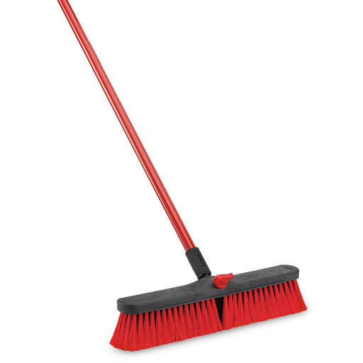 Push broom. Hotel cleaning supplies