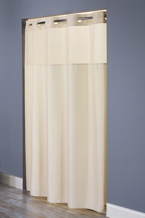 Hotel shower curtains. Hookless mystery model, beige color
