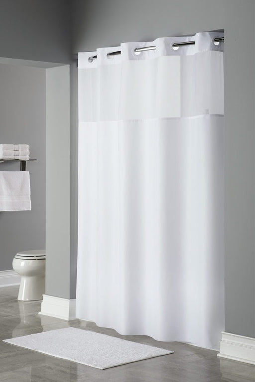 Mystery hookless white shower curtain wholesale