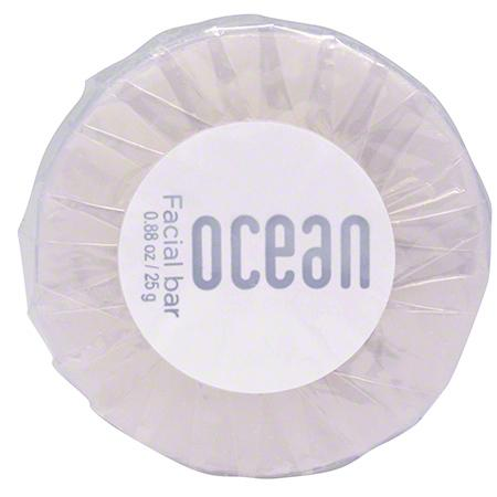 Hotel bath soap. Clear pleat blue round bar. Ocean collection, 1.41 oz/40 gr. tube 200 items pack