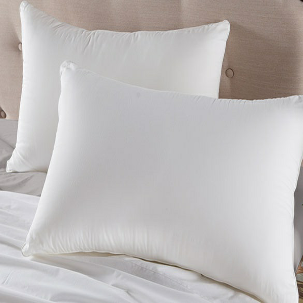 Standard size, Oxford hotel micro gel fiber pillow. Down Alternative, hypo-allergenic, piped edge, set of 2 or 12