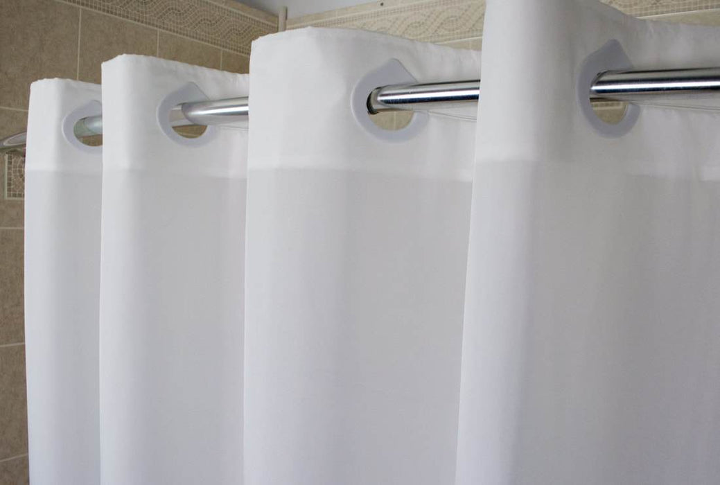 Poly 300 Hang2it Shower Curtains. Plain polyester shower curtain. Price per dozen