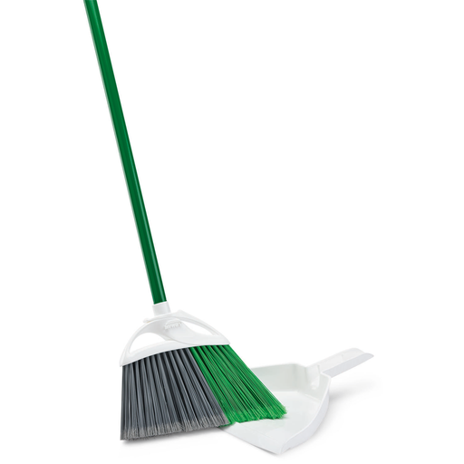 Hotel cleaning supplies. Broom and dustpan.