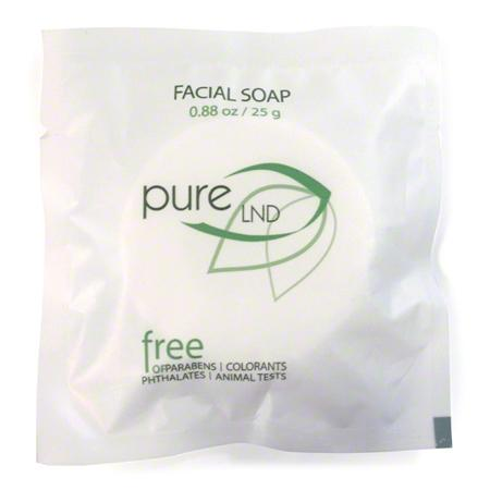 Hotel facial soap. Pure collection, 0.88 oz/25 gr. flow wrap. 400 items pack. 0.162 USD per item