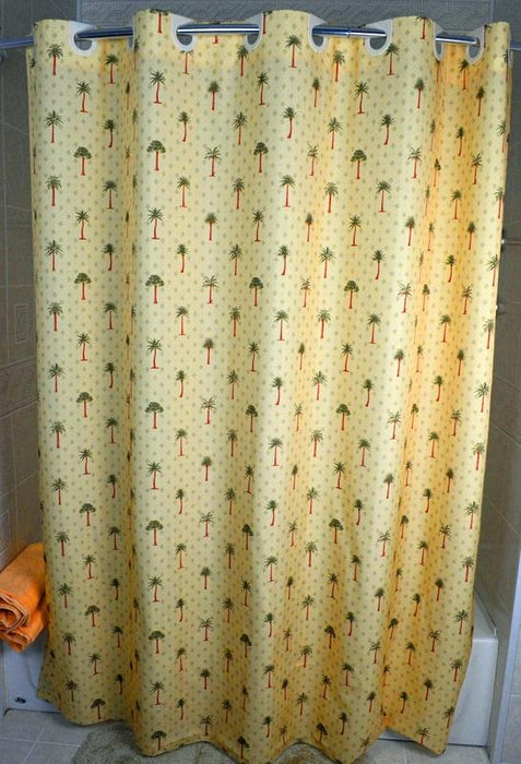 Palm Tree Polyester shower curtains wholesale. HSD - Where hotel owners shop in bulk