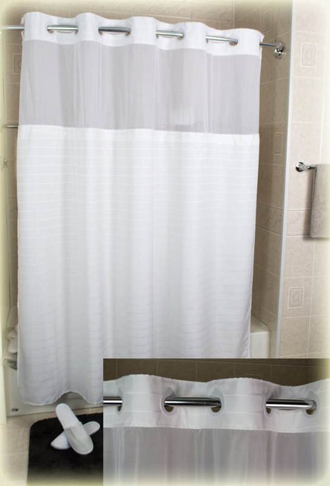 Millennium wholesale shower curtains wholesale white with window and liner