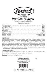 Fertrell Dry Cow Mineral