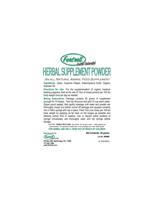 Herbal Supplement Powder - 3 pack w/ Syringe