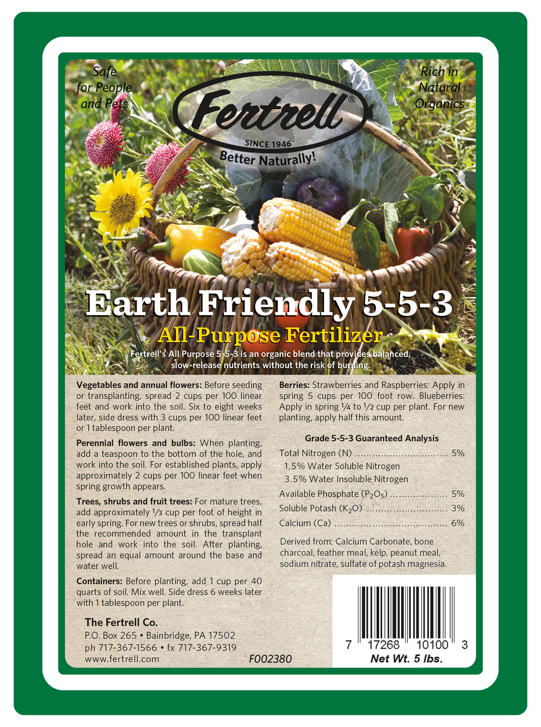 Earth Friendly All Purpose 5-5-3