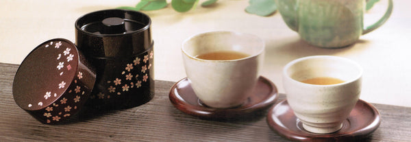 Sencha and matcha tea canister from Japan