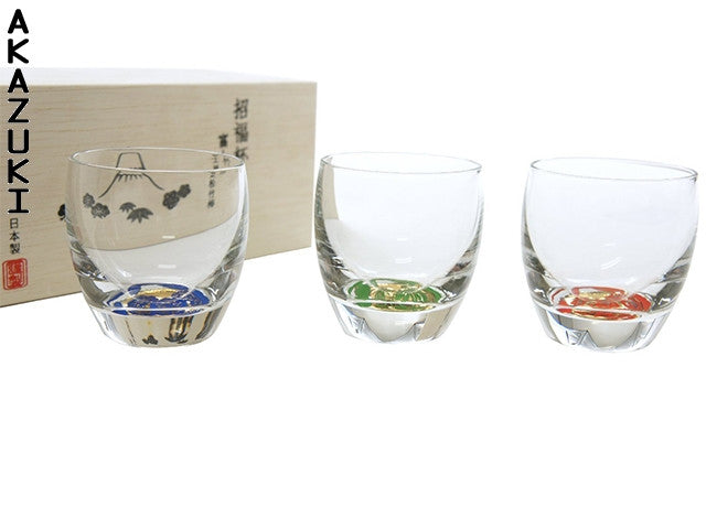 Sake glasses Irofuji (set of 3)