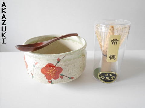 Matcha bowl set Mino