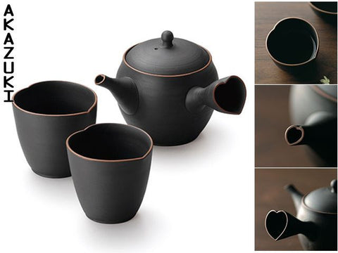 Heart tokoname tea set - Akazuki  - 1