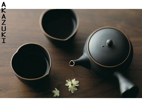 Heart tokoname tea set