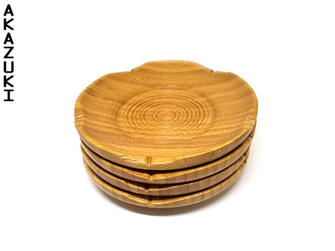 Wooden saucers