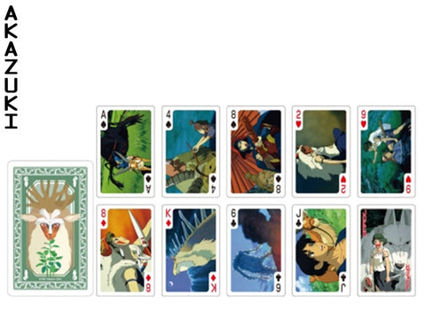 Mononoke princess playing cards