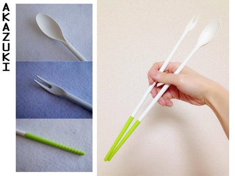 Long cooking silicone chopsticks (3 in 1)
