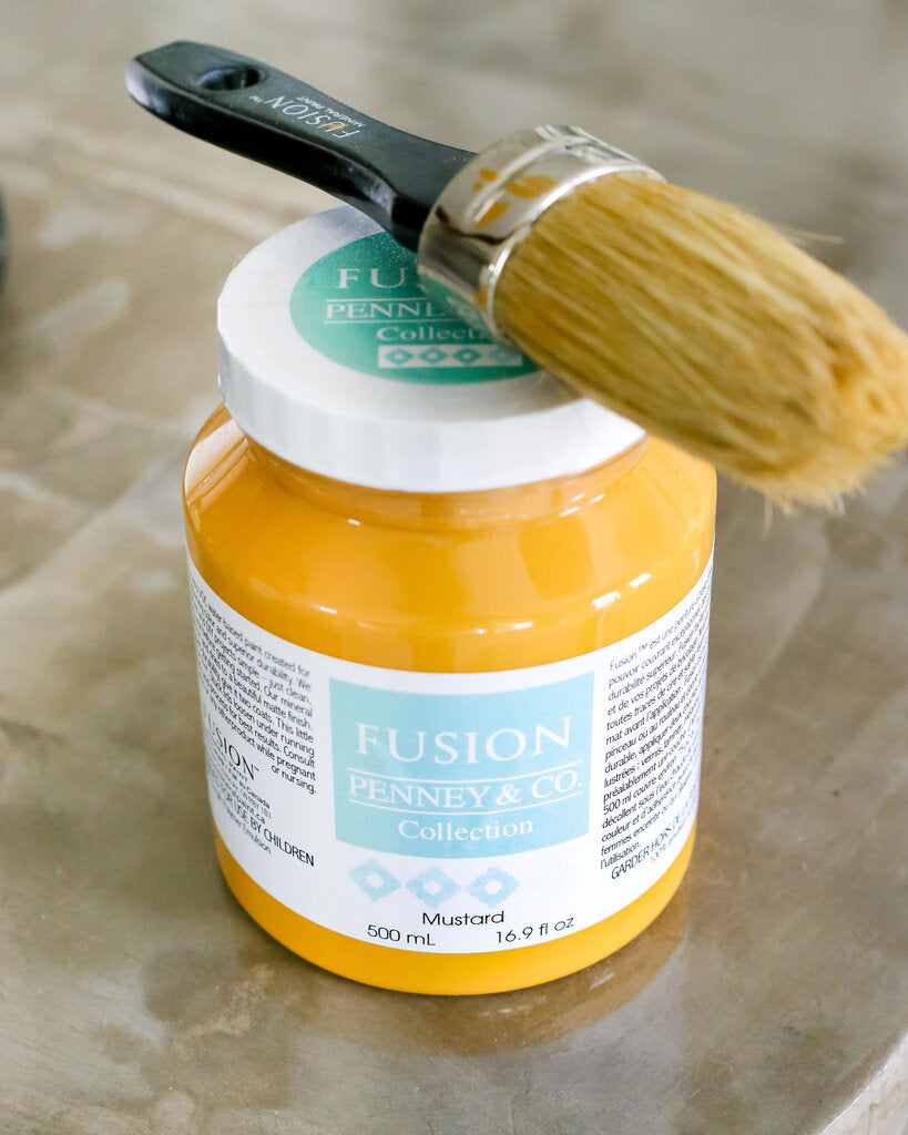 Mustard Fusion Mineral Paint Tester