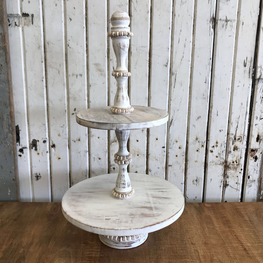 Beaded Tiered Server  24""