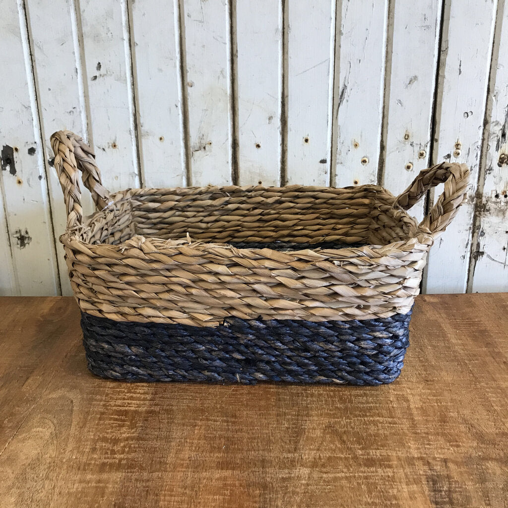 Blue Bottom Basket - Large  14.5x6.5x10.5