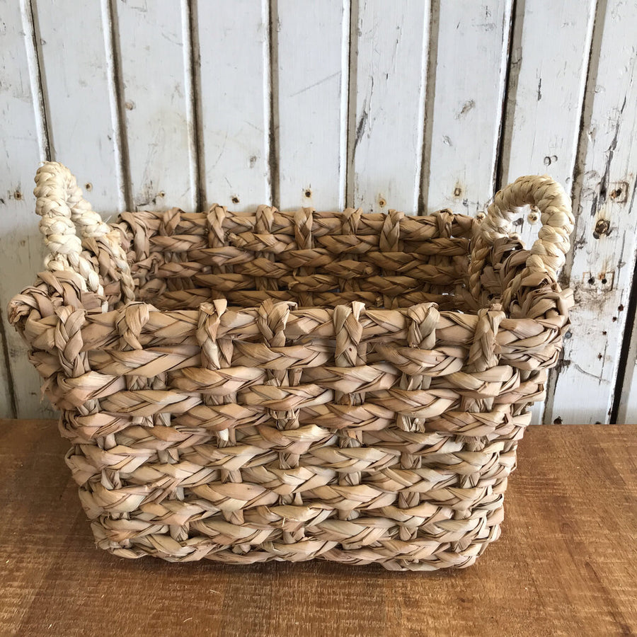 Cattail Basket - Small 12 x 8 x 10