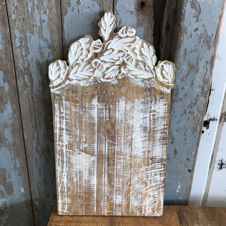 Carved Leaf Cutting Board  8x15