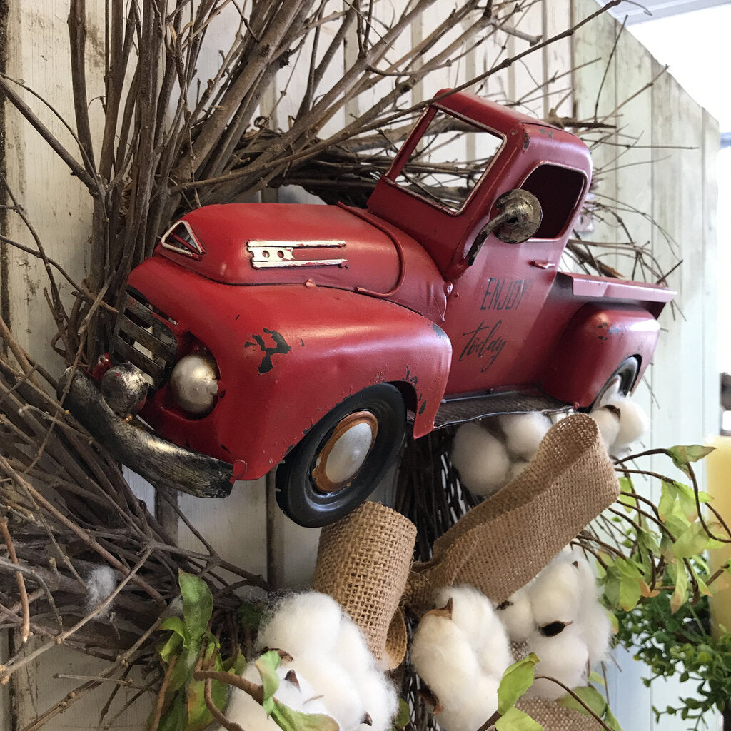 Wreath-Twig,Truck, Cotton 24""