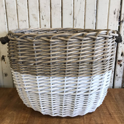Basket - Two-Tone, Oval (Med.) 24x15