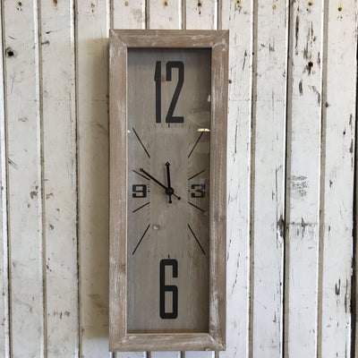 Stretched Wall Clock - 22.5 x 8.25