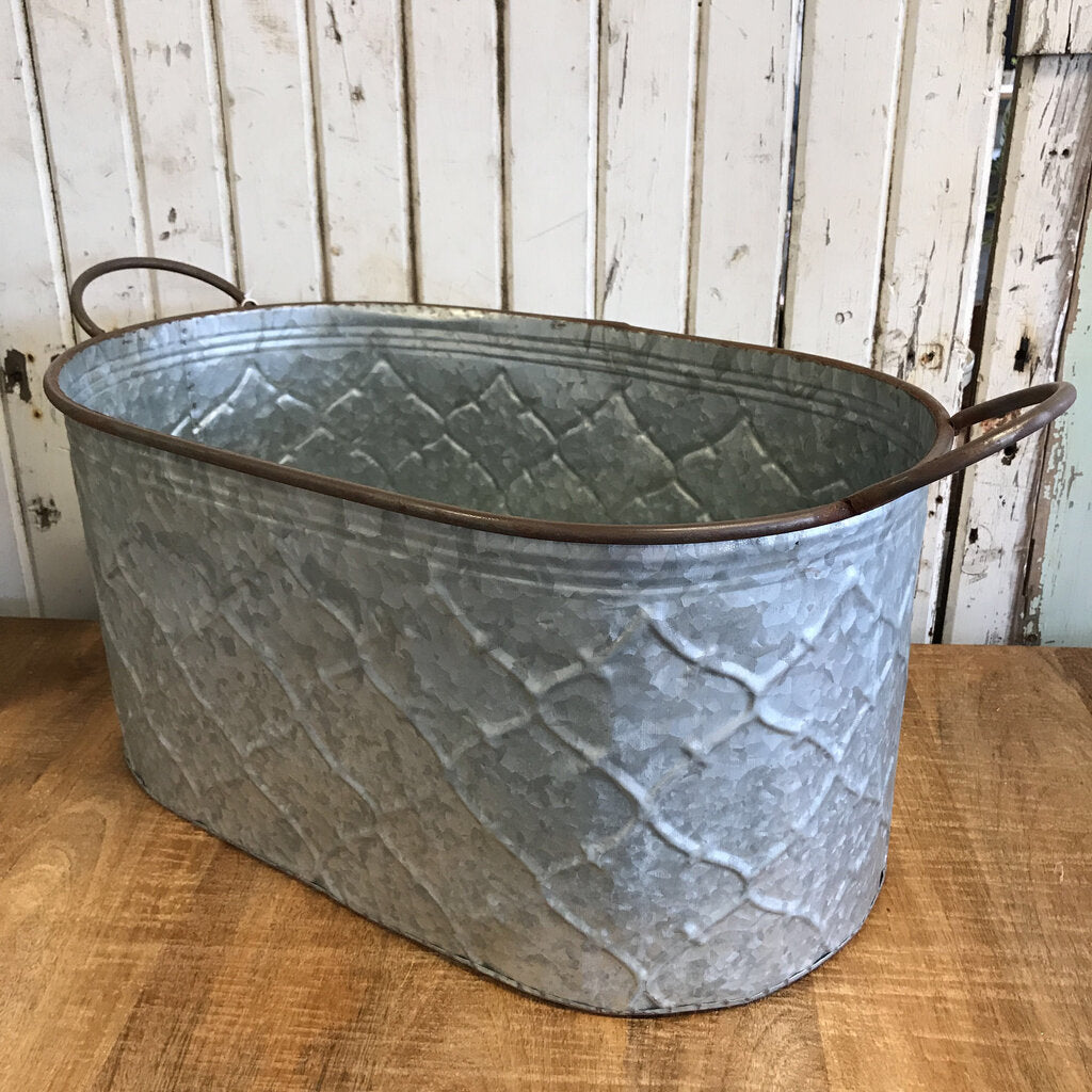 Metal Bucket - Large 25x10