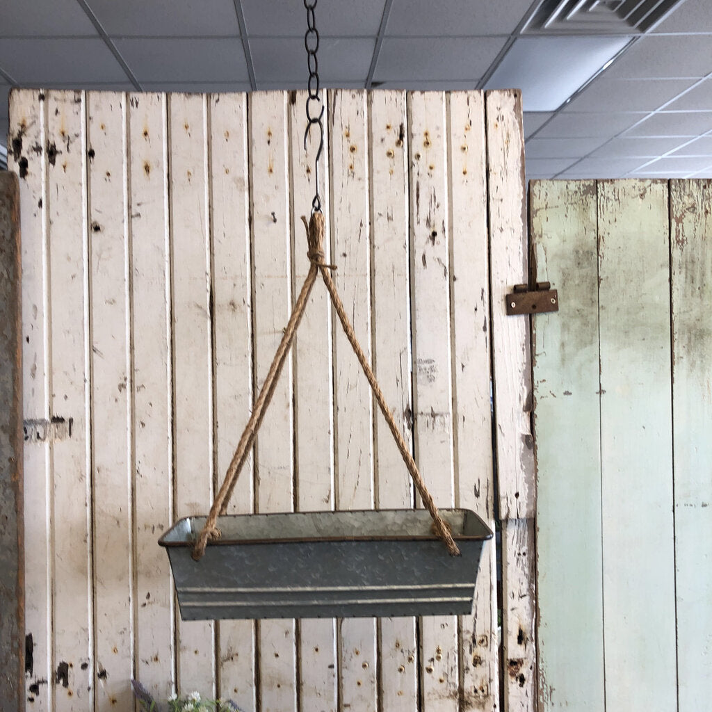 Hanging Planter w/ Rope - Medium 17 x 7
