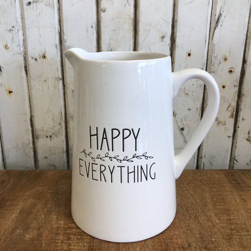 "Pitcher - Happy Everything -  9""Tall"