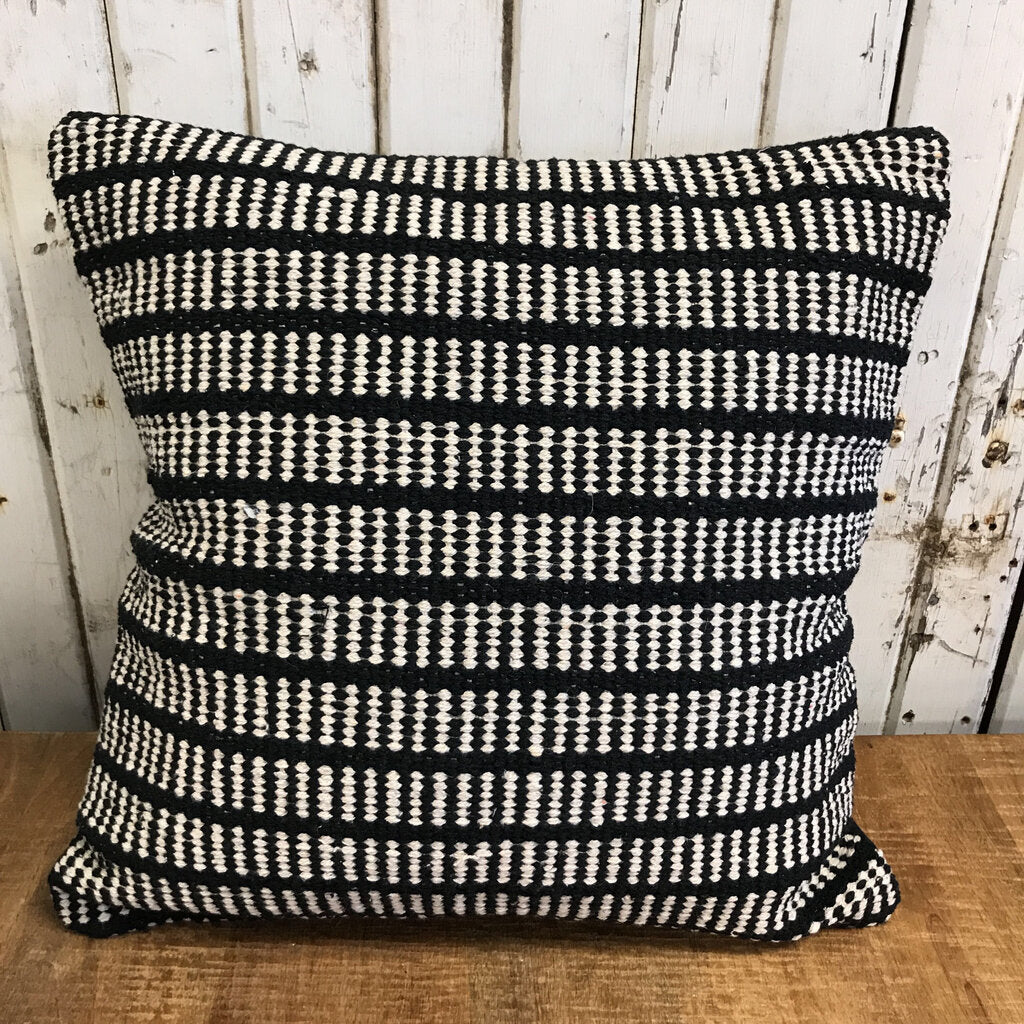 Black Cotton Pillow - RL1009 17 x 17