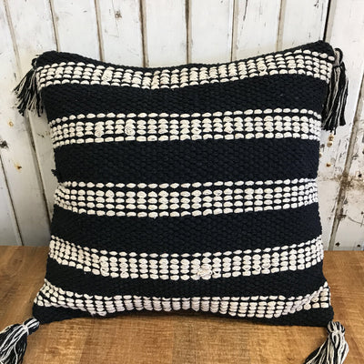 Cotton Pillow w/ Tassels - RL1012 16x16