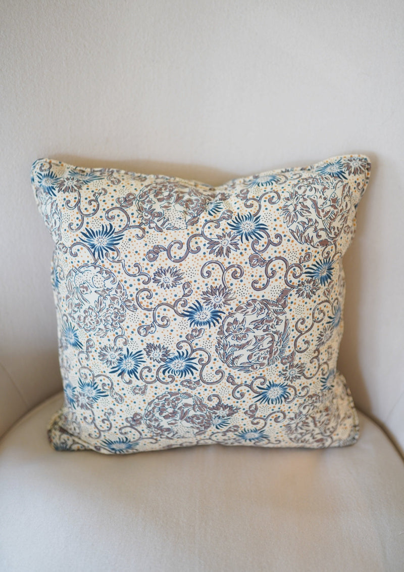Blue Butterfly Pillow