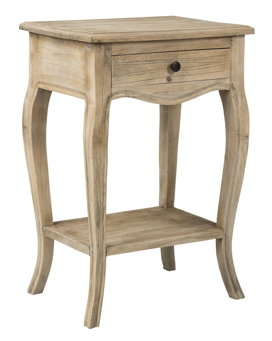 Brown Rubberwood Accent Table