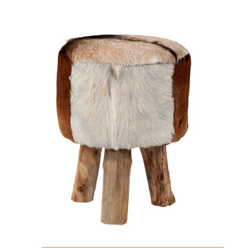 Nellie Hide Stool