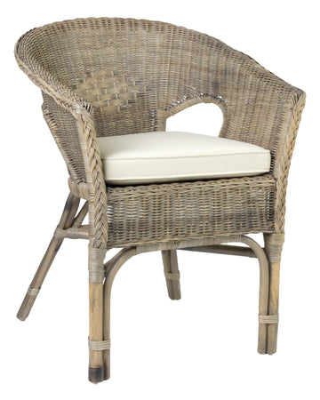 Grey Rattan Dining Chair