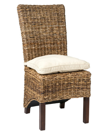 Brown Abaca Dining Chair