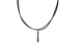 1.8 Carat Green Tourmaline Pendant with 18K Green Gold and 18K Yellow Gold Lock